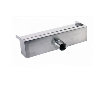 Outdoor decorative stainless steel water fountain swimming pool water spillway led light garden waterfall