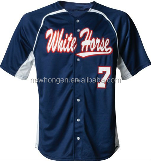 Custom school team baseball/softball jerseys