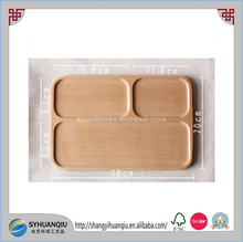 wooden serving tray for Fast food and breakfast