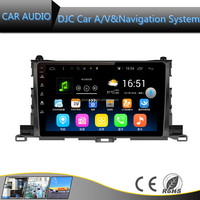 android system 10.1 inch 2 din universal/special car dvd player with reversing camera for Highlander