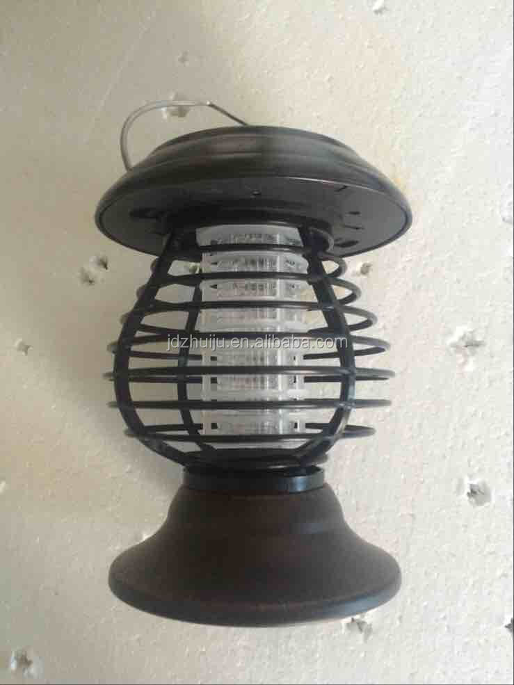 Hanging Solar Powered LED Light Electric Insect Fly Trap Mosquito Killer Lamp