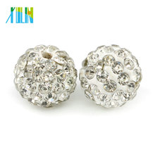 Best Selling Loose Beads Shamballa Crystal Jewelry Clay Rhinestone Beads Size 4mm - 18mm, IB00101