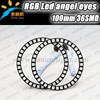 High Power car led ring light 12Volt 100mm rgb led ring Angel Eyes with fade smooth strobe flashing pattern