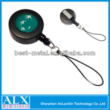 Plastic round yoyo badge reel retractor for cellphone