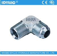 Carbon steel/ stainless steel 90 degree elbow JIS to BSPT male thread gas fittings with 60 degree cone