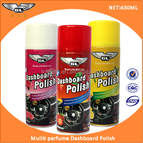 450ml dashboard polish wax or silicone spray /car dashboard shine spray