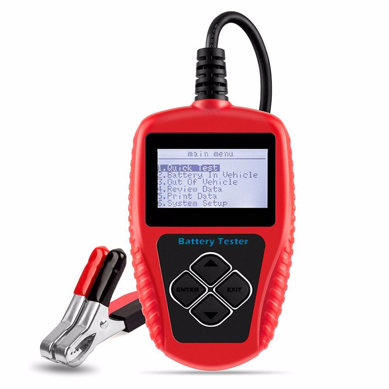 12V battery internal resistance tester BA101 with LCD display test CCA