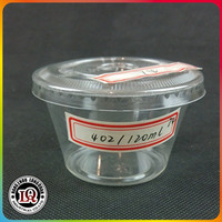 4oz Disposable Plastic PET Cup with 74mm flat cover