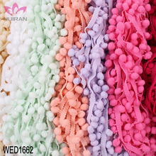 34 Colors In Stock 1CM Lace Trim Wholesale Pom Pom Trim