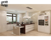 China factory new design modern european style mdf door material modular kitchen cabinet