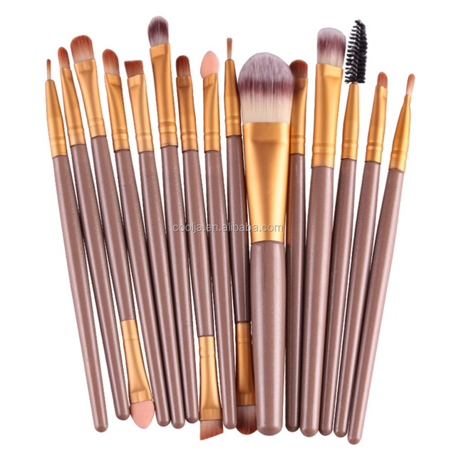 15 Pcs/Sets Professional Pro Eye Shadow Foundation Eyebrow Lip Brush Makeup Brushes Comestic Tool Make Up Eye Brushes Set