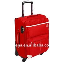 4 Wheels nylon trolley luggage bag 20 24 28 inch