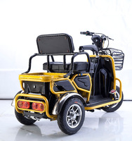 one or two seats cargo and passenger Use For and 48V Voltage electric pedicab 3 wheel tricycle