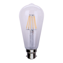 E26 E27 B22 Non-Dimmable And Dimmable St64 Filament Bulb Led, Led Light Filament, Led Filament Light Bulb