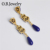 Simple design long earring womens big gemstone earrings