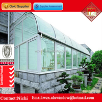 Customized laminated glass roof aluminium sunroom house