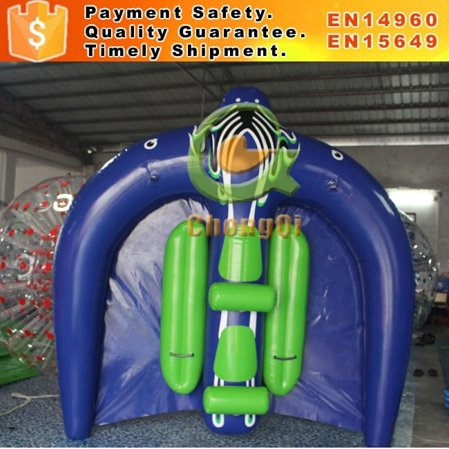 Hot sale inflatable flying fish tube towable water sports inflatable flying manta ray