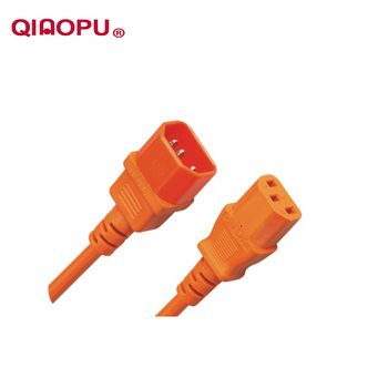 Qiaopu Vde Saa Pvc Materials Computer Extended Line C13 To C14 Power Cord