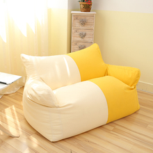 visi 2015 new design couple size double color crean and light yellow bean bag armchair sofa lounge recliner bean bag cover
