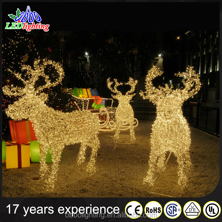 Outdoor Lighted Reindeer And Sleigh Best Sales Products In Alibaba   Buy Outdoor  Lighted Reindeer And Sleigh,Lighted Deer Outdoor Christmas Decorations ...