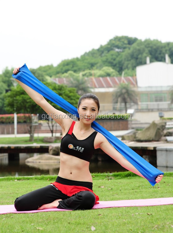 Rubber theraband/Latex resistance band/TPE exercise band