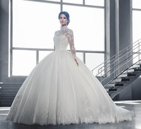 WTY09 New Elegant Princess Wedding Dresses 2016 Ball Gown Tulle Chapel Train Bridal Gowns Vestido de noiva