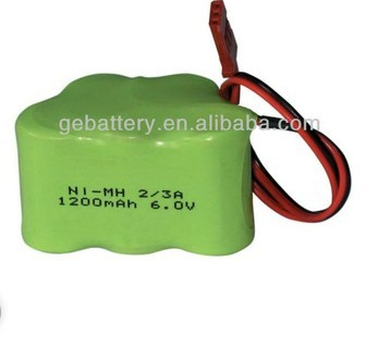 GEB 4.8v 600mah ni-mh aaa battery pack,ni-mh battery 1/3 aaa