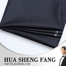 2016 Fashionable Serge Grey Merino Wool Polyester Suit Fabric