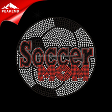 Iron On Soccer mom hotfix glass rhinestone transfers