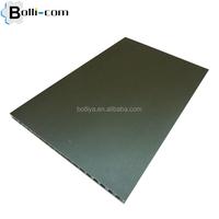 Titanium-zink sandwich panel in aluminum honeycomb core