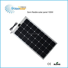 Hot sale 20W 30W 50W 75W 90W 100W high efficient flexible Solar Panel,semi flexible solar panels price China by Factory directly