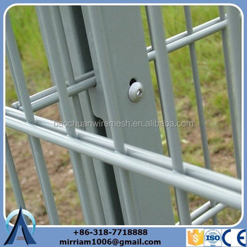 glavanized and powdercoating cheap twin wire mesh fence