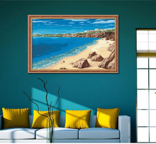 DIY digital Aegean Sea oil painting for decor and gifts