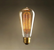 Decorative Lighting Bulbs Vintage Industrial Style Light Bulbs E27 ST64 Edison Bulb