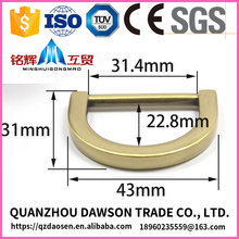 high quality zinc alloy bag d ring with logo from custom color electrical plating