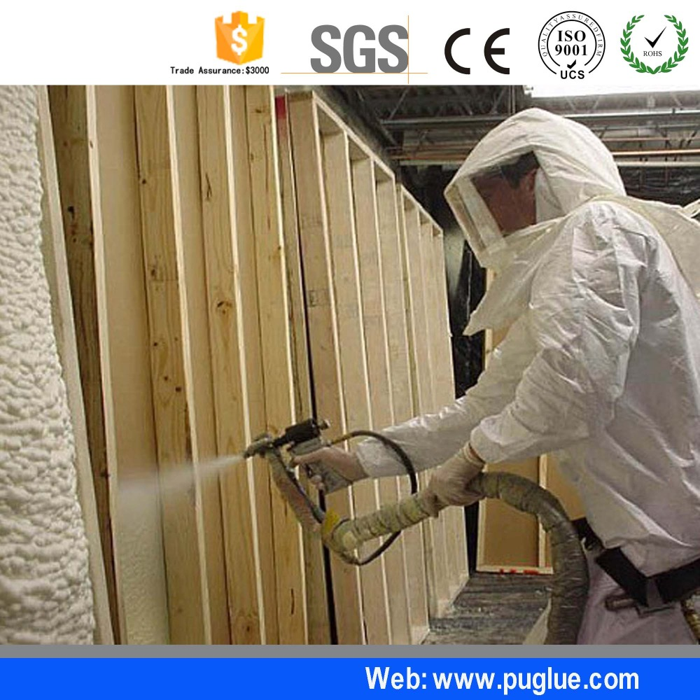 Two Components Polyurethane PU Liquid Spray Coating For Insulation Foam