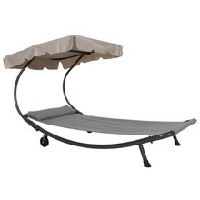 """ Outdoor Portable Chaise Lounge Chair Hammock Bed with Sun Shade and Wheels """