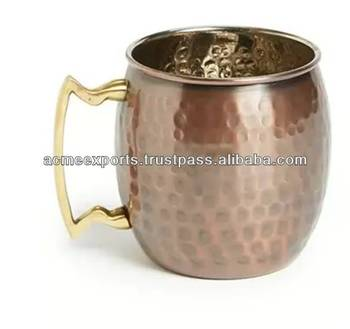 Hammered Copper Mugs Made in India