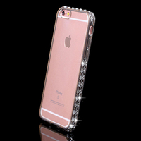 Luxury Glitter Bling Diamond Crysta Clear soft gel tpu Cell Phone case cover for iPhone 6 6s plus