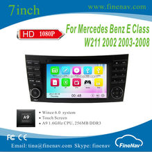 "7"" A9 Car DVD Player Wince 6.0 for BENZ W211,W463,W219 with Gps Navi,3G,Wifi,Bluetooth,Ipod Support DVR"