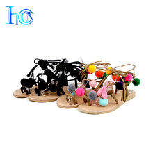 Wholesale roman latest ladies summer flat sandals