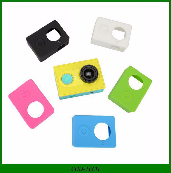 Xiaomi Yi Action Camera Housing Silicone Case with lens cap