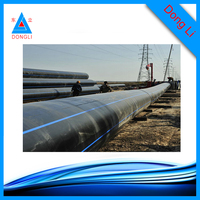 Pure raw materials black PE100 pipe HDPE dredging pipe 630mm 0.8MPa