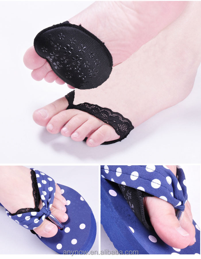 Useful and sexy lace forefoot buffer cushion skid resistance