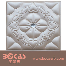 2017 cheap interior wall paneling ceiling decoration 3d wallpaper 3d leather wall panel for building materials