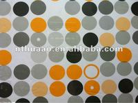 plastic pvc clear printed table cover in round dots