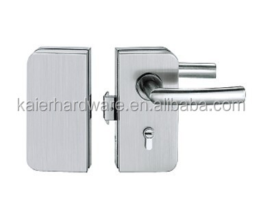 Polished stainless steel glass lock fittings for glass door