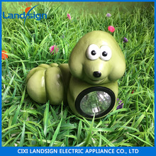 Solar led light small green worm