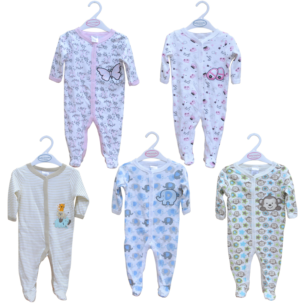 Newborn Baby Clothes Carters Babyworks Rompers One Pieces Romper Infant Animal Model Boys S