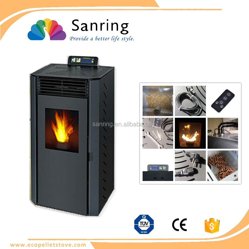Lightweight 9 kw home air heating wood pellet stove for sale